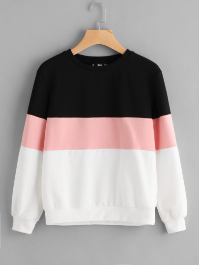 SHEIN Cut And Sew Pullover