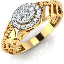 IskiUski Favorite  Gold Ring 18kt Swarovski Crystal Yellow Gold ring